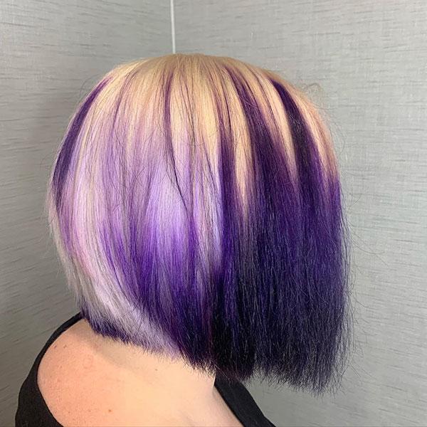 Haircuts For Purple Short Hair