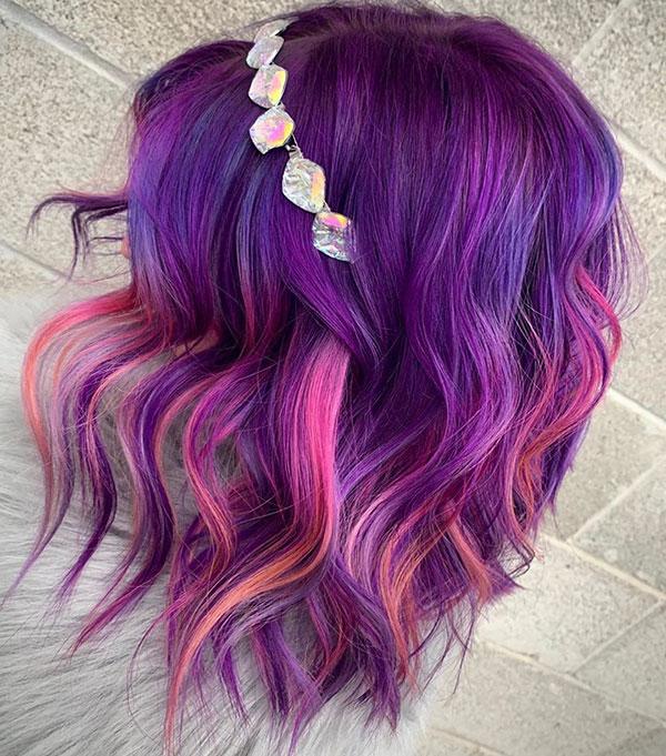 Purple Hair For Short Hair