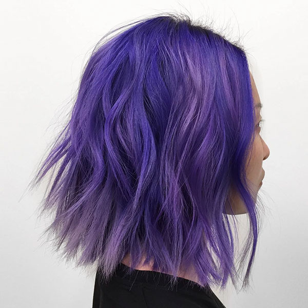 Hairstyles For Purple Short Hair