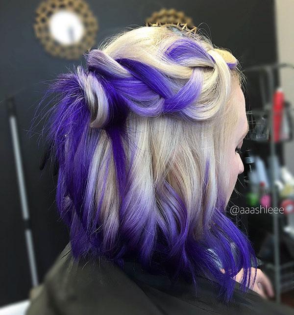 Purple Short Hair Cuts