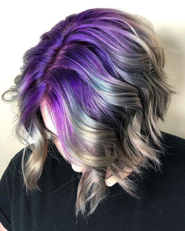 Short Purple Hair Color Ideas