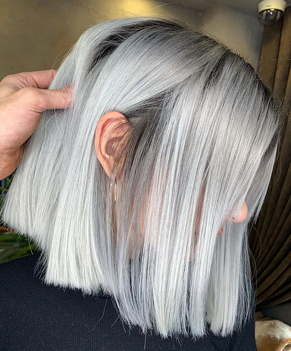 Short Hair With Platinum