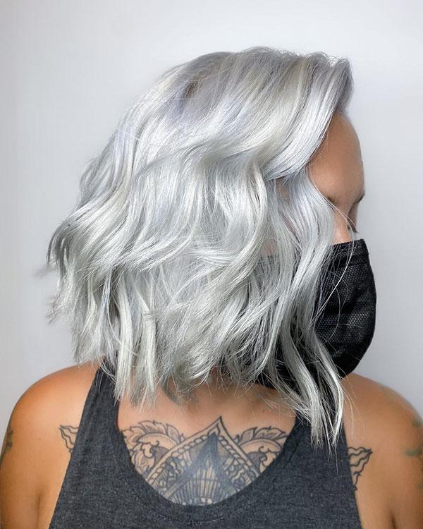 Platinum Hair On Short Hair