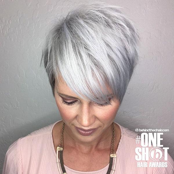 Platinum Hair Color On Short Hair