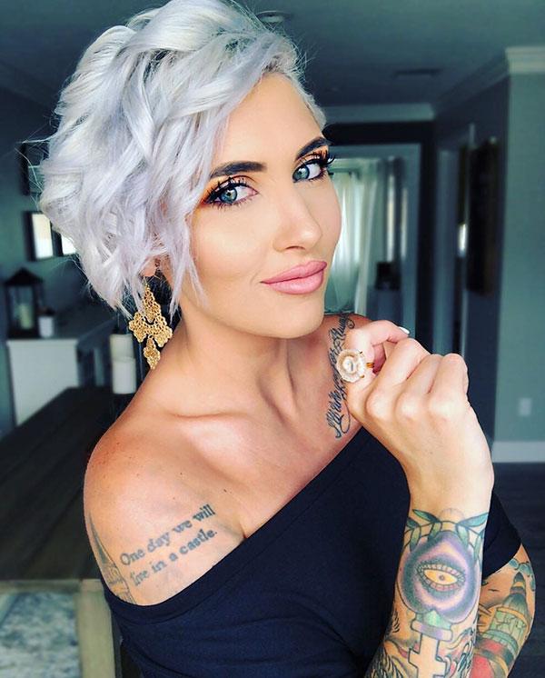 Platinum Hair Color Ideas For Short Hair
