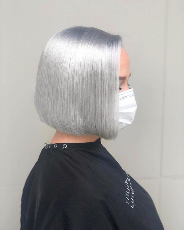 Short Platinum Hair Color Ideas