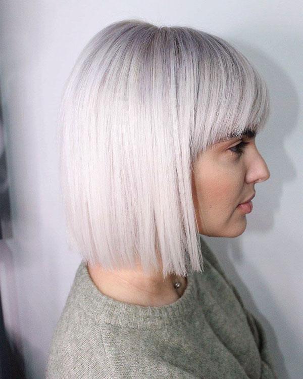 Short Hairstyles For Platinum Hair