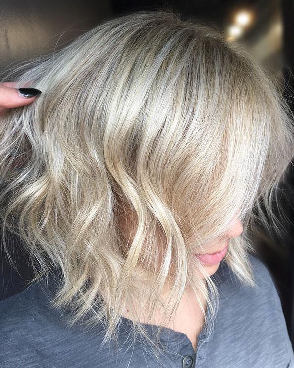Balayage And Short Haircut