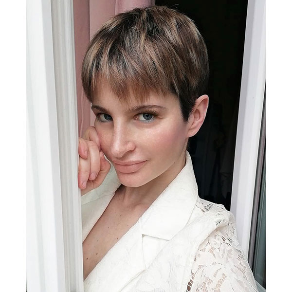 pixie cut with designs