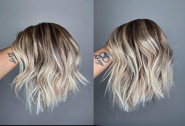short hair cut woman 2021