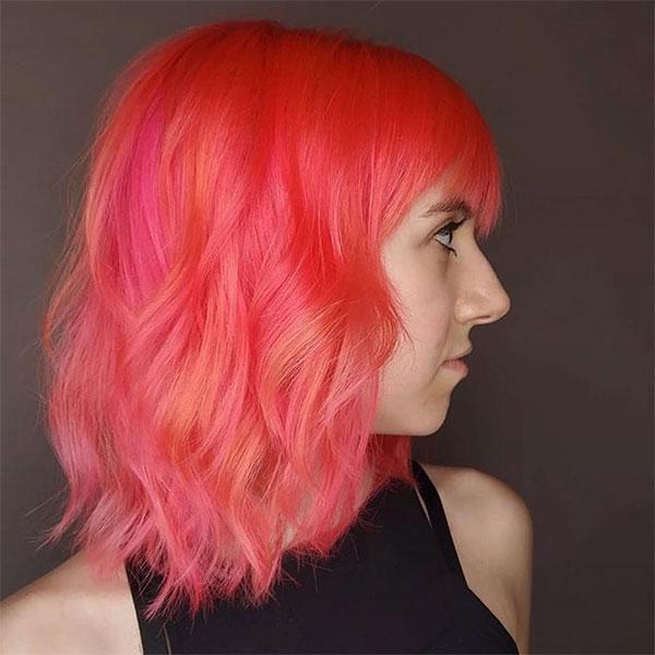 beautiful pink hairstyles