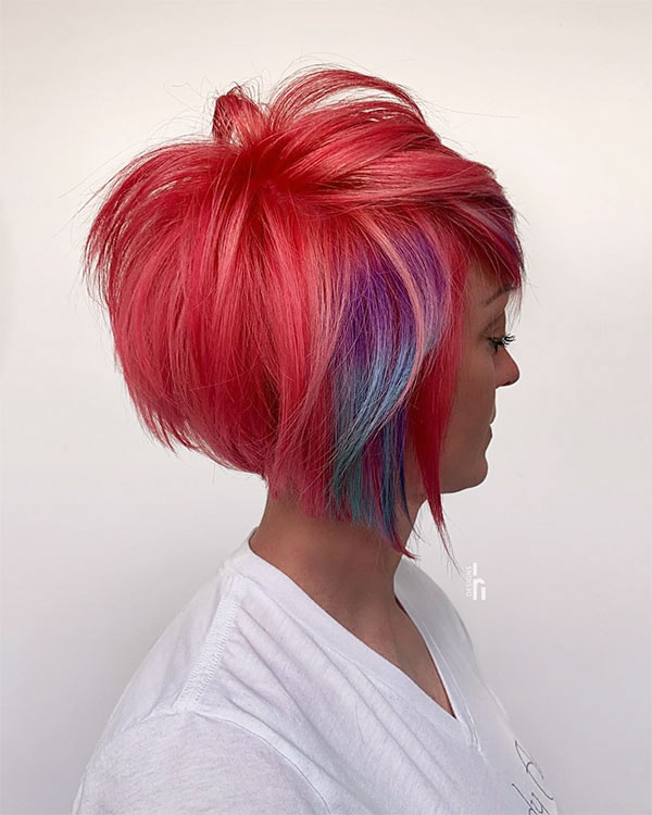 best pink haircuts