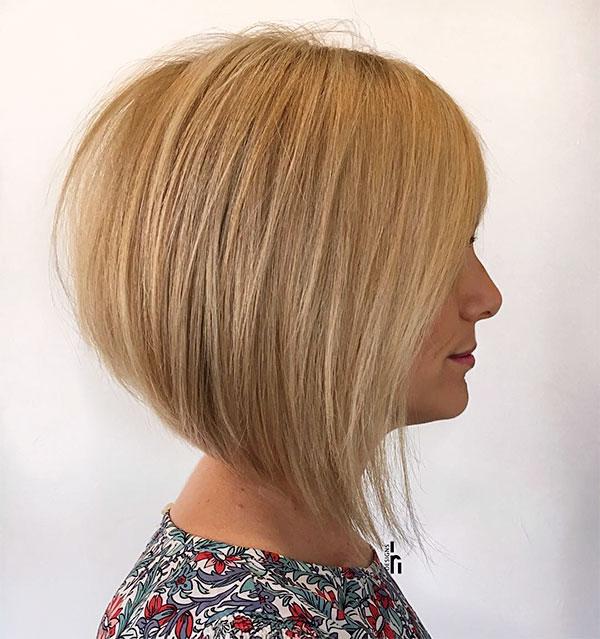blond short hair cut