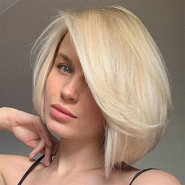blonde cut hair