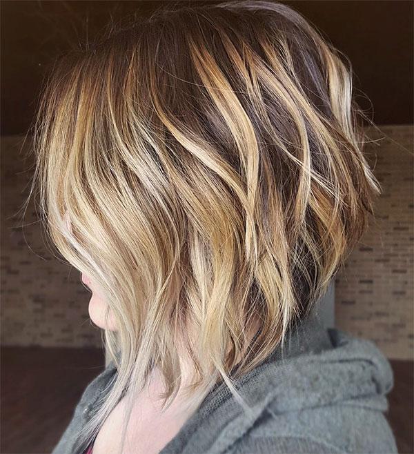 blonde hair short haircuts