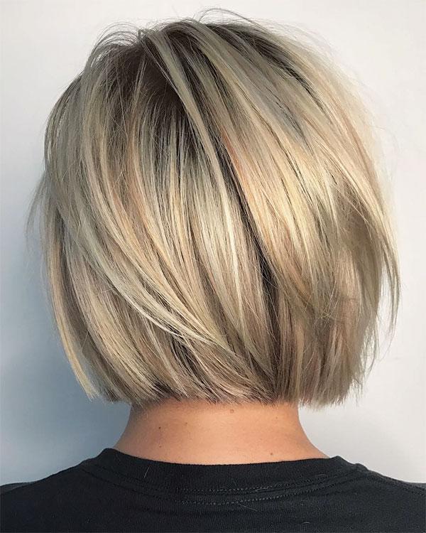 blonde hair styles short