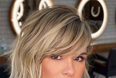 blonde short cut
