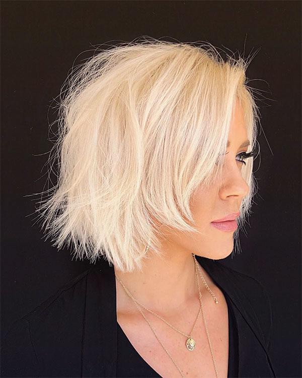 blonde short hair cuts