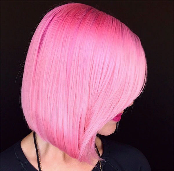 cool short pink hairstyles