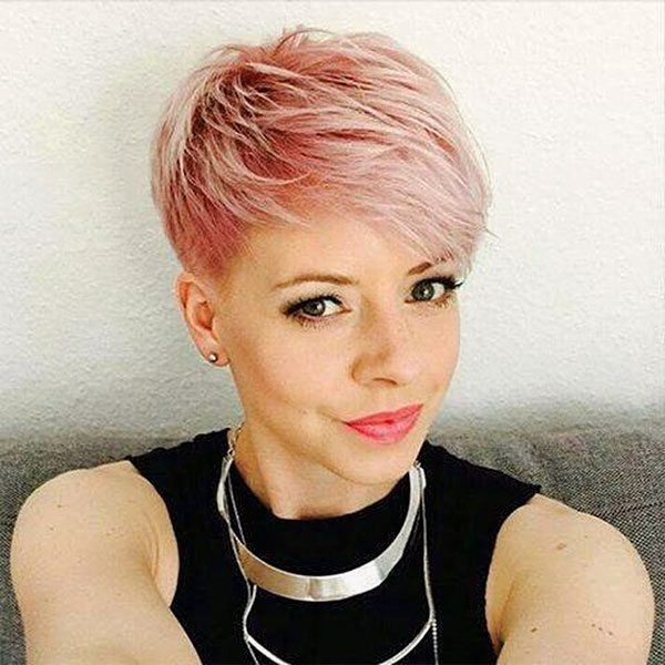 cute hairstyles for pink hair