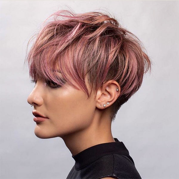 cute hairstyles for short pink hair