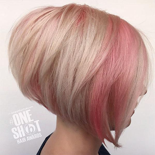 cute pink hair