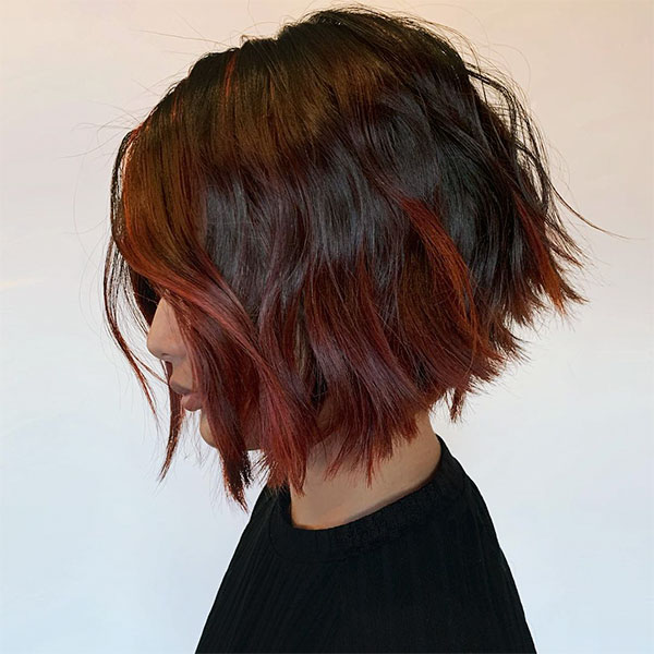 cute red hairstyles