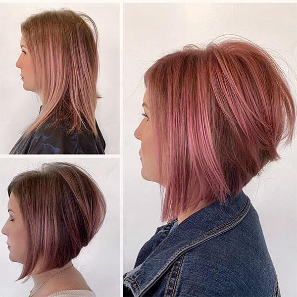 cute short pink