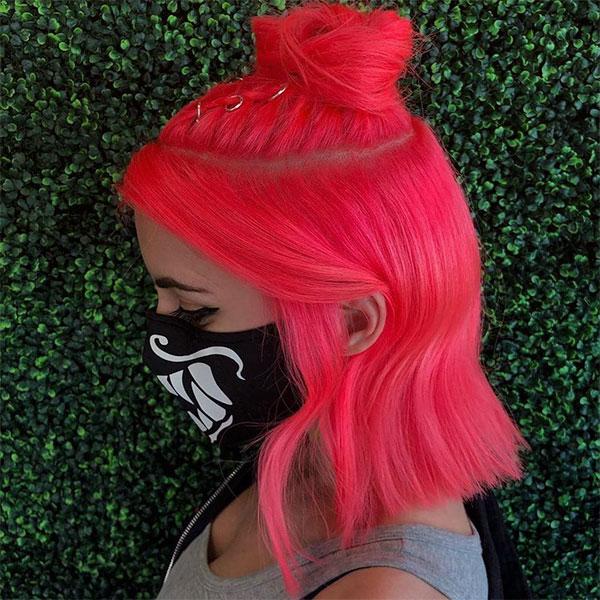 cute short pink hair