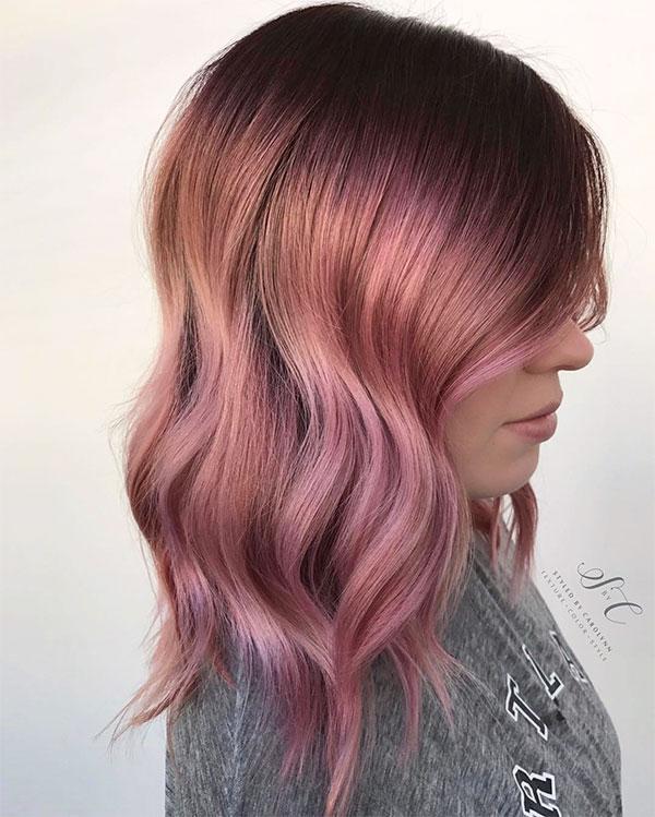 cute short pink hairstyles