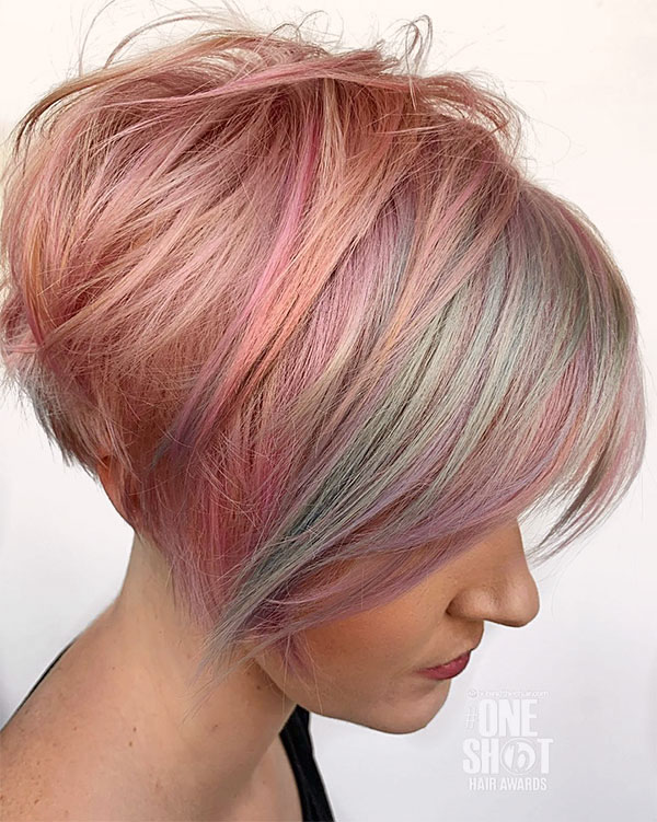hair styles for pink hair