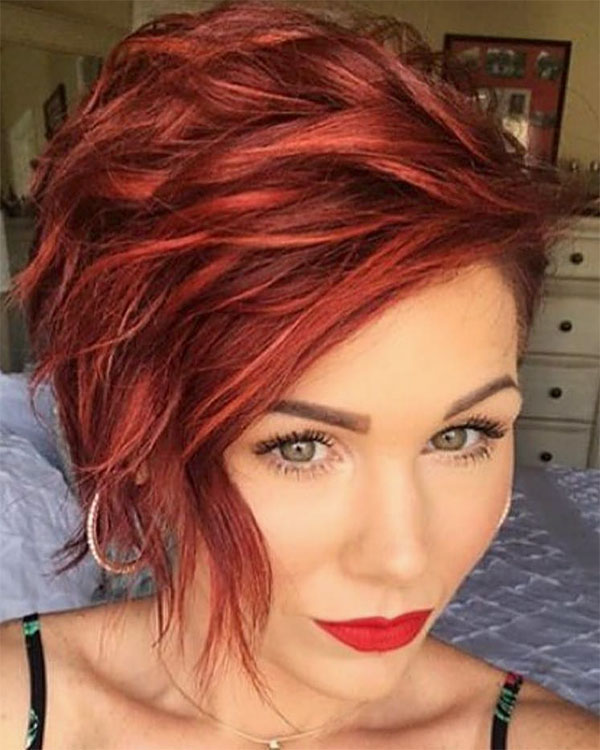 hairstyles for red hair woman