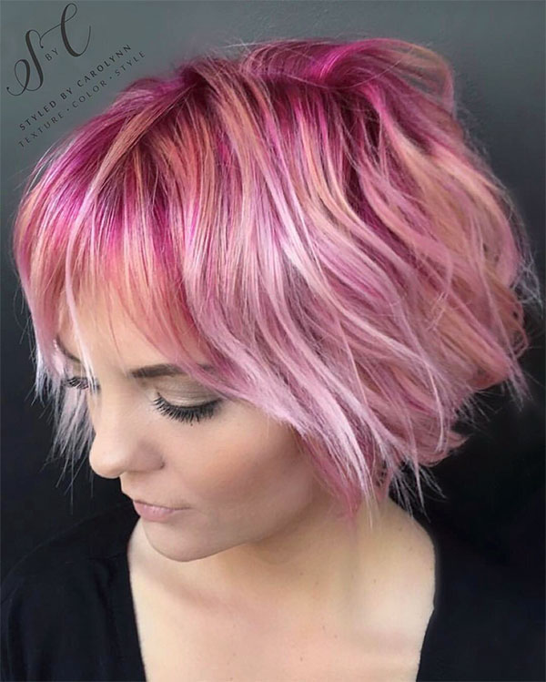 hot short haired pink