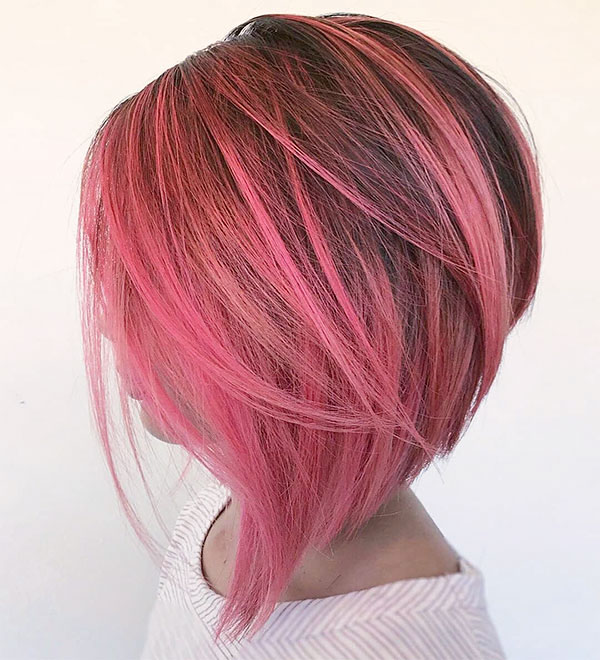 images of short pink haircuts