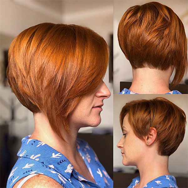 pictures of short red hairstyles