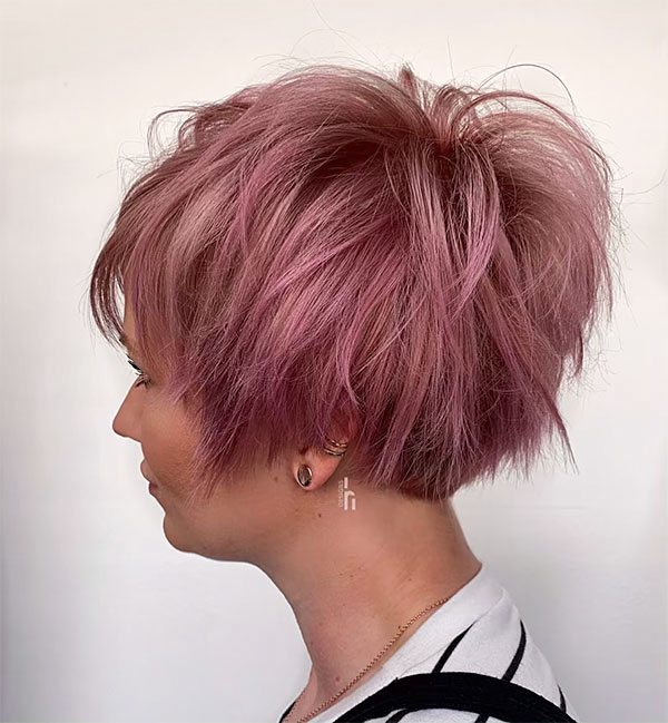 pink color for short hair