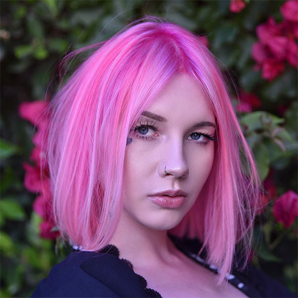 pink hair color for women