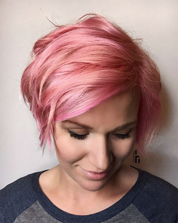 pink hair colors and styles