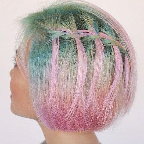 pink hair for short hair