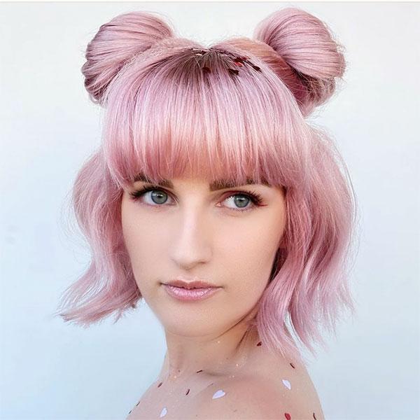 pink hair styles women