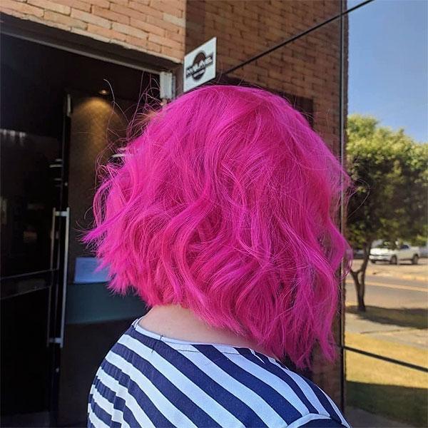 pink hair women