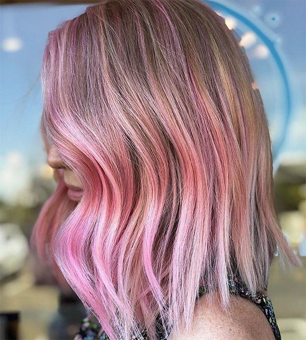 pink haircut styles