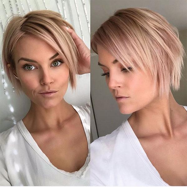 pink short hair color ideas