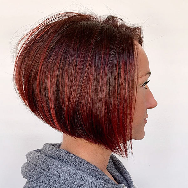 red color hairstyles