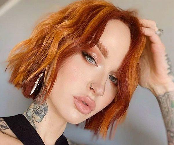 red hair color short hair