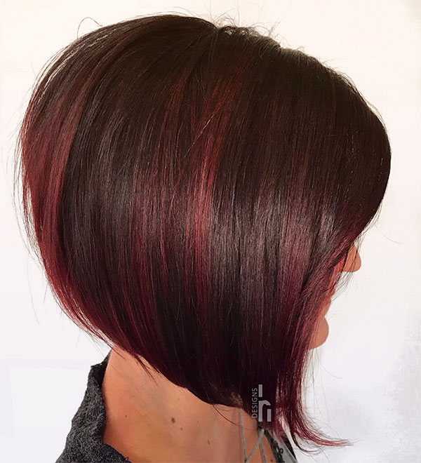 red hair color short styles
