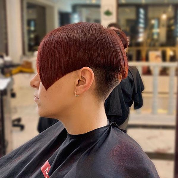 red hair for short hair