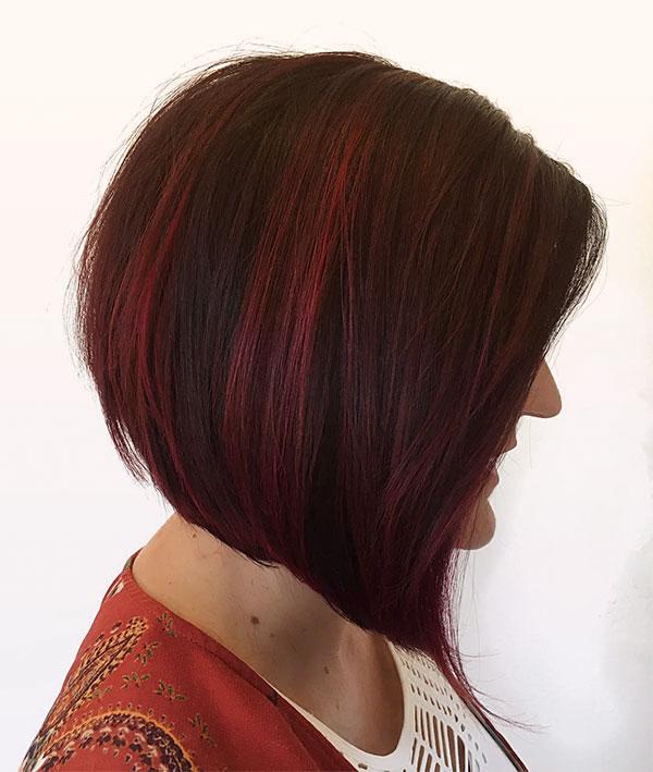 red hair haircuts