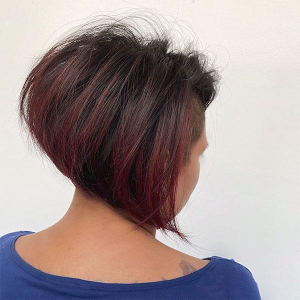 red hair on short hair