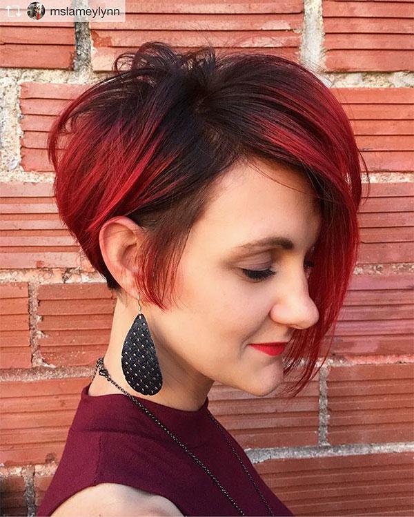 red hair short cuts